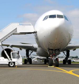 un avion de ligne.