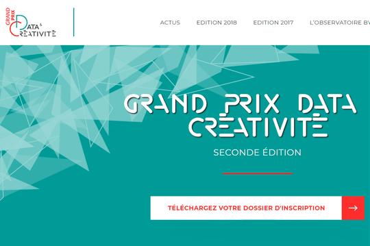 Plus que quelques jours pour postuler au Grand Prix Data et Créativité