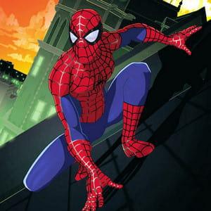 spiderman, dans le dessin animé éponyme.
