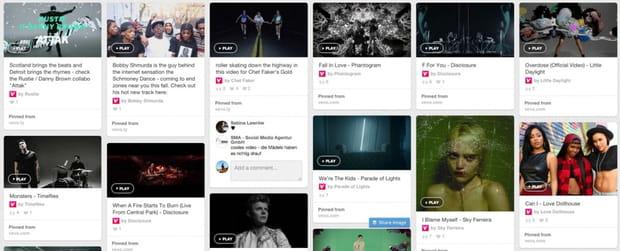 Partage de photographies, musique et vidéos