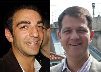 benjamin bejbaum (à gauche), fondateur de dailymotion, et son successeur, mark