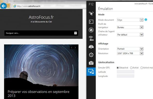 emulation internet explorer