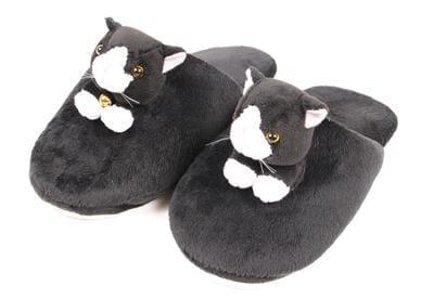des chaussons pas vraiment discrets mais on espère confortables.
