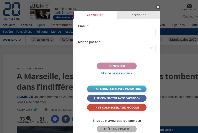 PassMedia: 6sites médias français déploient leur login commun