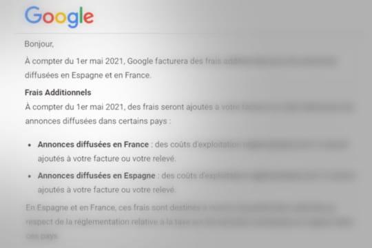 Google répercute la taxe Gafa sur ses tarifs en France