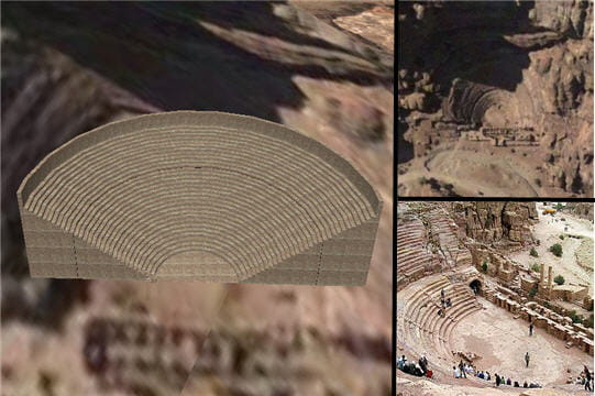 L'amphithéâtre de Petra