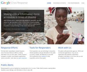 google crisis response.