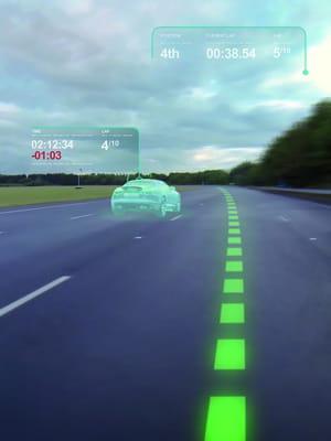 le prototype de pare-brise virtuel dévoilé par jaguar land rover permet au