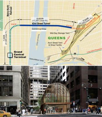 la nouvelle ligne de train souterraine east side access reliera manhattan au