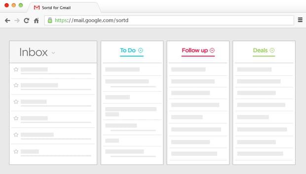 Sortd change votre Gmail en listes pratiques