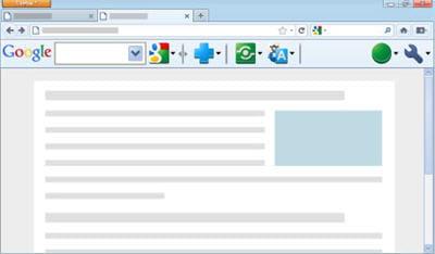 copie d'écran de la barre d'outils google sous firefox.