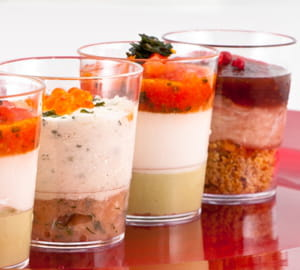 au menu, pas moins de 18 variétés de verrines sucrées ou salées.
