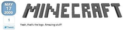le 17 mai 2009, markus persson dévoile le premier logo de minecraft sur son blog