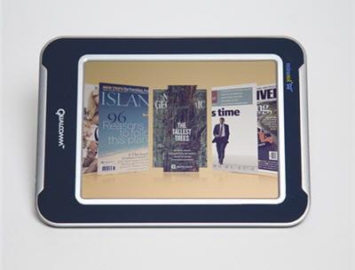 exemple de rendu d'un livre numérique avec le système d'affichage mirasol.