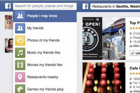 Facebook va rendre le graph search disponible aujourd'hui