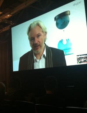 julian assange, via skype.