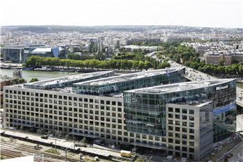le siège européen de microsoft,à issy-les-moulineaux, tout près de paris.