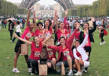 des salariées d'octo, lors de la course à piedla parisienne.