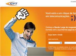 page d'acueil du site de gvt au brésil