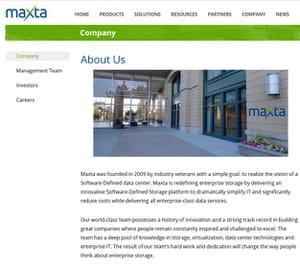 maxta est basée à sunnyvale en californie.