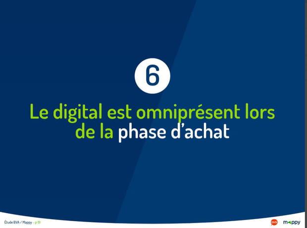 Le digital est omniprésent lors de la phase d'achat