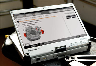 la tablette hybride biométrique panasonic toughbook cf-c2.