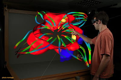 simulation d'interactionsau sein d'un plan de travail virtuel.