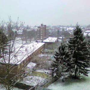 roubaix, sous la neige.