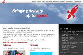la page d'accueil de shutl