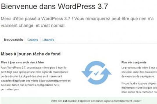WordPress peut désormais se mettre automatiquement à jour