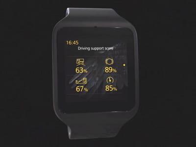la montre proposée par scania est une sony smartwatch3.