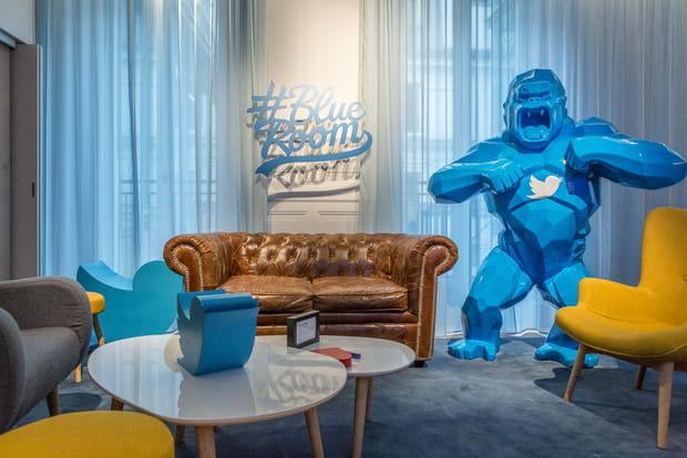"""Une """"Blue room"""" pour recevoir les VIP"""