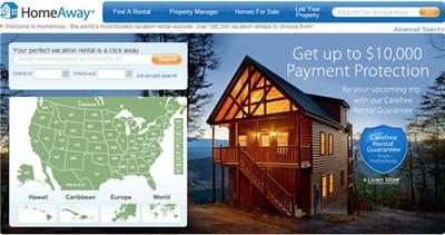 le site américain de homeaway recense 185 000 annonces pour les etats-unis.