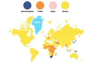 Guerre des navigateurs : cartographie des rapports de force depuis 2008