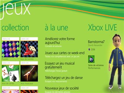 le hub jeux : votre mobile communique avec votre xbox.