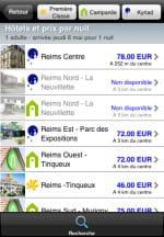 exemple de recherche d'hôtels