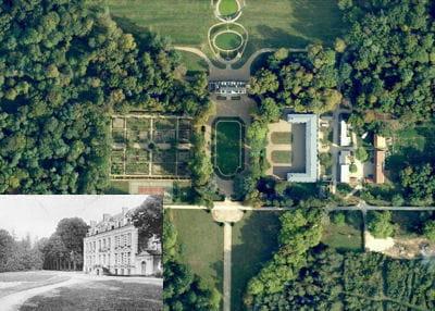 une vue aérienne du château de la porte.