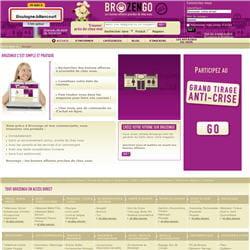 la page d'accueil de brozengo