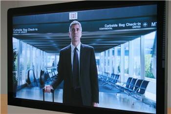 la bande annonce du film 'up in the air', sur l'imac 27 pouces