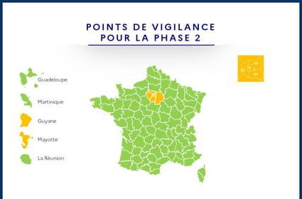Déconfinement du 2juin: la France verte, seules trois régions oranges