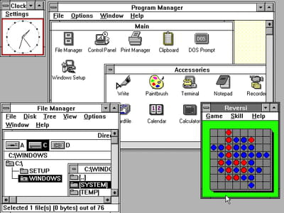 capture de windows 3.0.