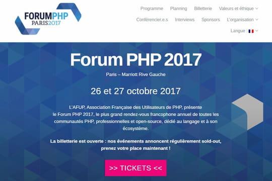 La communauté française du PHP tiendra son forum les 26et 27octobre