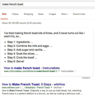 make french toast steps google