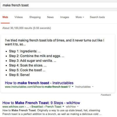 make french toast steps google