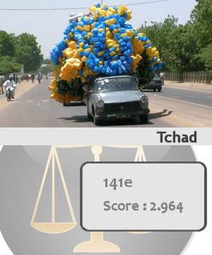 le tchad est le 141e pays le plus sûr du monde.