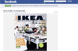 la page d'ikea sur facebook