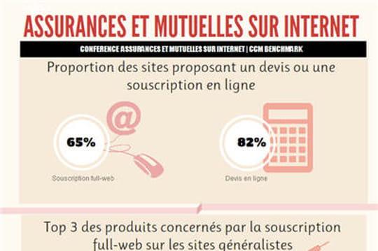 infographie assurances et mutuelles sur internet en 2013