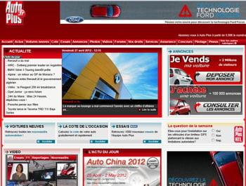 la page d'accueil du site autoplus.fr
