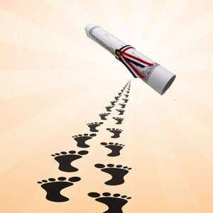 suivez le chemin pour une reprise d'études réussie.