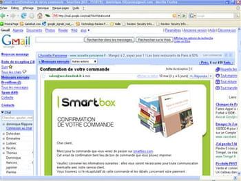 le service de messagerie gmail